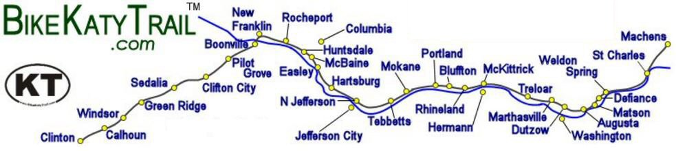 N. Jefferson on the Katy Trail and Rock Island Trail on