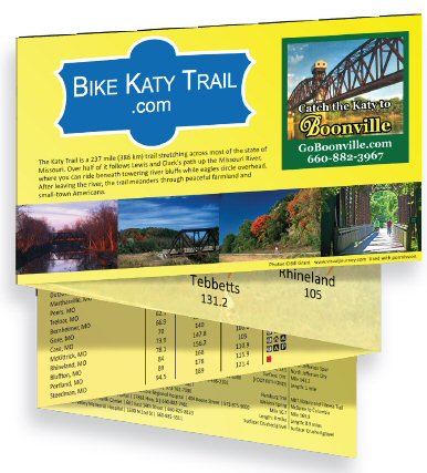 Katy Trail pocket map